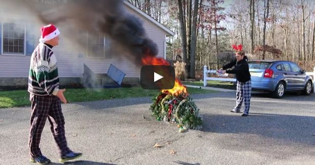 The addicted gamer Jesse sets fire to the family Christmas tree because he doesn't get a Wii U.  Watch Video: https://psychodadvideos.wordpress.com/2015/10/03/psycho-kid-torches-christmas-tree/