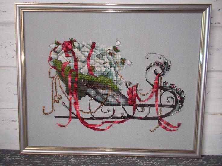 sanie św Mikołaja-haft krzyżykowy