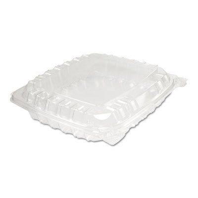 Clearseal Plastic Hinged Container, 8-5/16 X 8-5/16 X 2, Clear, 125/bg, 2 Bg/ct