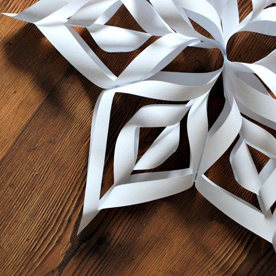 These DIY Snowflakes are the perfect craft to do with kids! They make for beautiful holiday decor, and can also be used to embellish gifts!