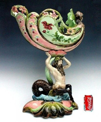 Massive Eichwald Barbotine Majolica of XIXth - 1900 Art Nouveau - Ref : 6046 | Anticstore
