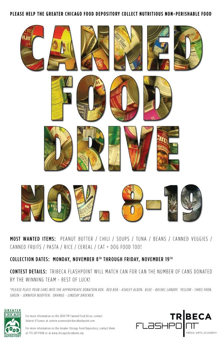 FOGGYland - a blog from subeternal design: Canned Food Drive Poster