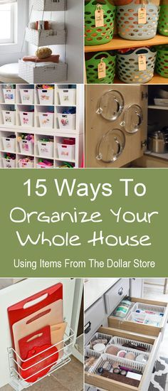 15 creative and cool organization ideas that you can do with items from the dollar store.