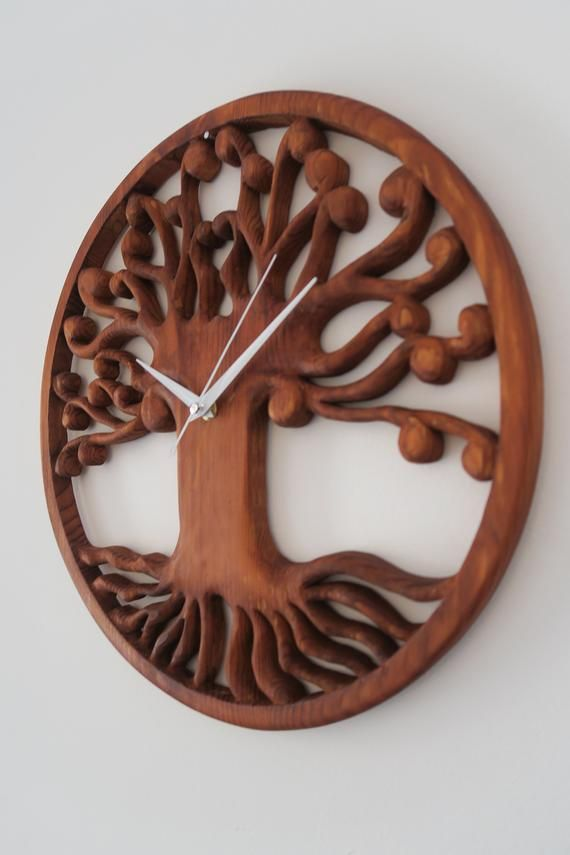 Reloj Pared Madera Arbol De La Vida Reloj Madera Decoracion Pared Madera Reloj De Pared Relojes De Pared Originales Relojes De Madera Relojes De Pared