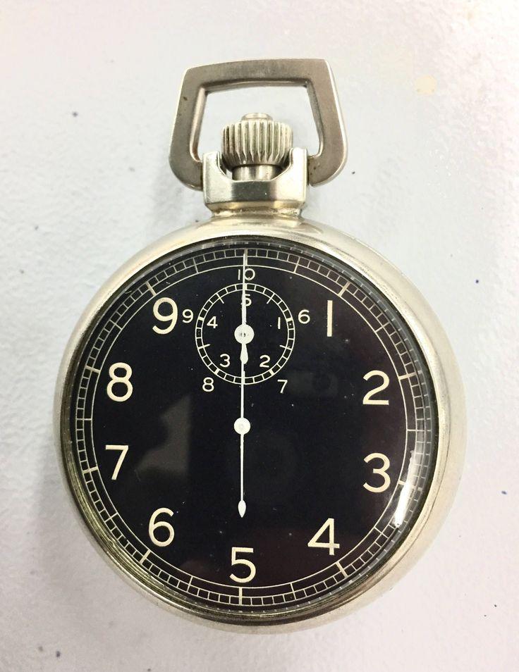 1943 Elgin A-8 Jitterbug 16s 15J WWII World War 2 Military Pocket Timer Watch Gr...
