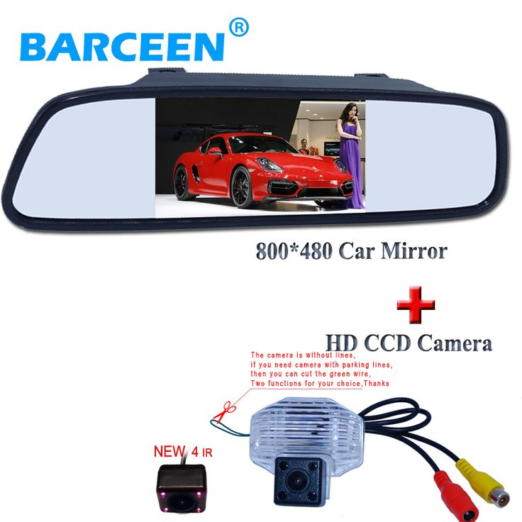 "4.3""car screen mirror monitor black shell+special use for Toyota Corolla car rear view camera 4 ir lights night vision"