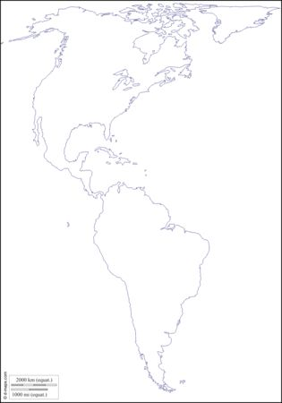 blank map of north and south america - Josemulinohouse