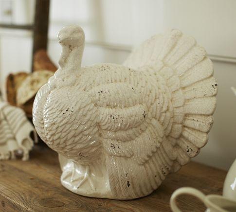 Rustic ceramic turkey pottery barn f a l l pinterest for Pottery barn thanksgiving