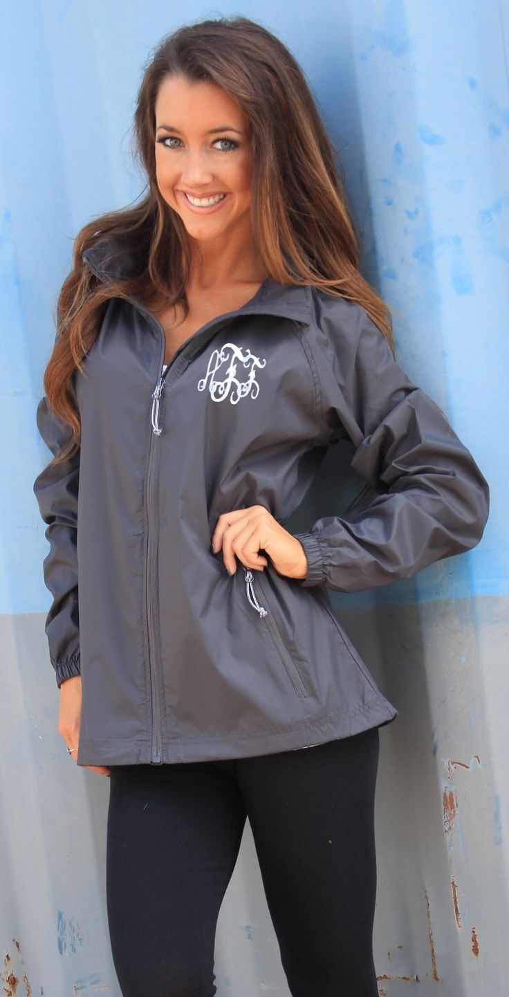 Monogrammed Windbreaker Jackets at Marleylilly.com!