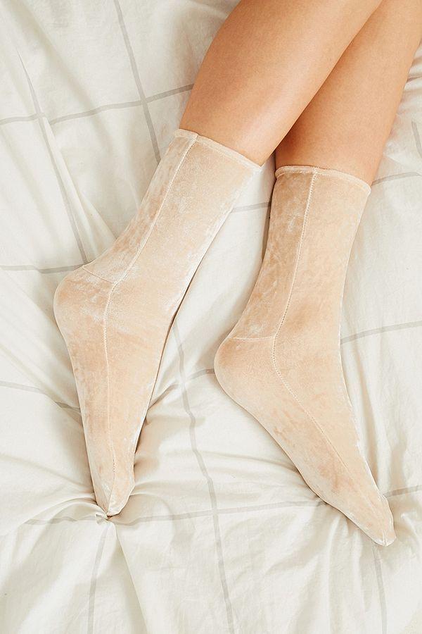Slide View: 1: Socquettes souples en velours