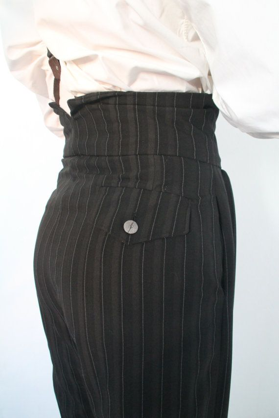 1920's oxford bags, vintage style college pants, high waisted trousers, lindy hop pants