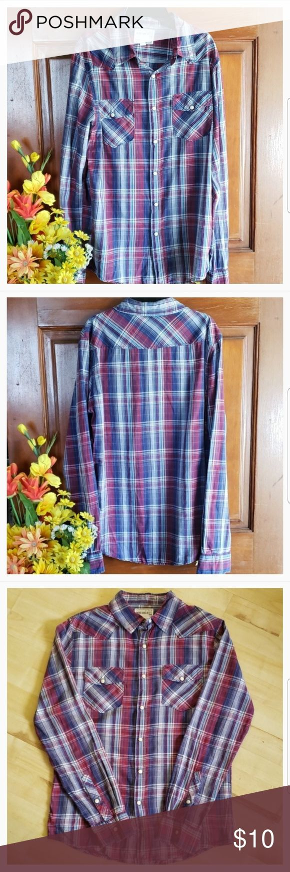 Plaid Long Sleeved Collared Blouse Brand: Warp And…