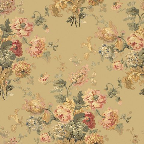Sussex Gardens - Tea - Florals - Wallcovering - Products - Ralph Lauren Home - RalphLaurenHome.com