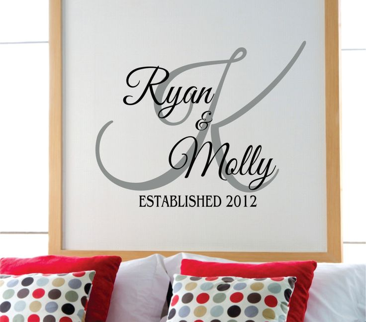 Best Monograms Images On Pinterest Silhouette Projects - Family monogram wall decals