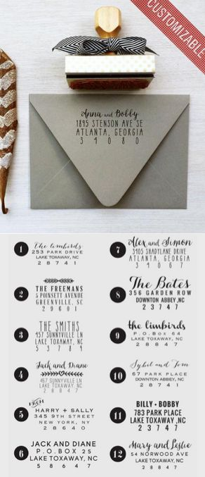 Custom Address Stamp - makes filling out your wedding invitations a breeze!
