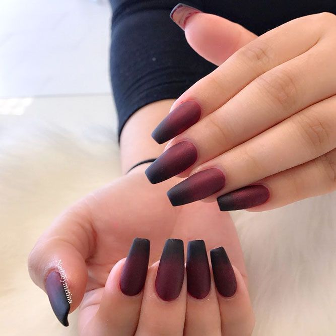 25 Gradient Nails Designs To Greet Fall Naildesignsjournal Com Burgundy Nails Burgundy Nail Designs Ombre Nails