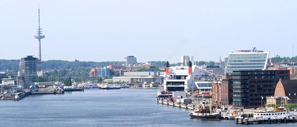 harbor from Kiel, Germany