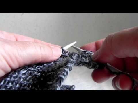 Lavorare a maglia con i ferri accorciati a legaccio. Presenta Emma Fassio - YouTube
