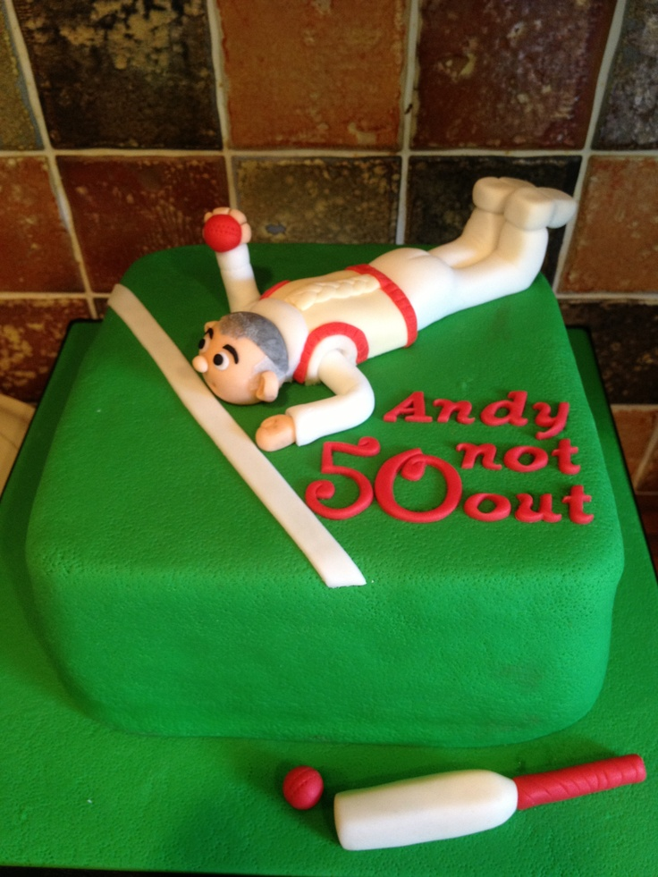 Cake Designs For Cricket : Cricket cake Sports cakes Pinterest Cricket, Cricket ...