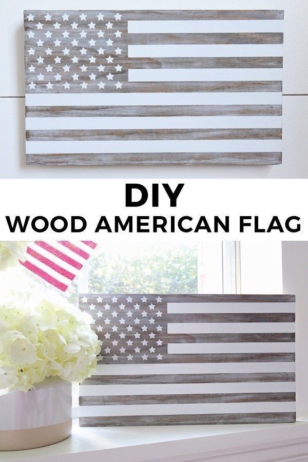 DIY Wooden American Flag & Free Printable
