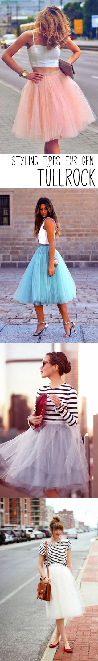 Die coolsten Styles mit Tüllrock - jetzt auf http://www.gofeminin.de/styling-tipps/tullrock-styling-tipps-s1412681.html #tulleskirt #fashion #trend #streetstyle #style #romantic