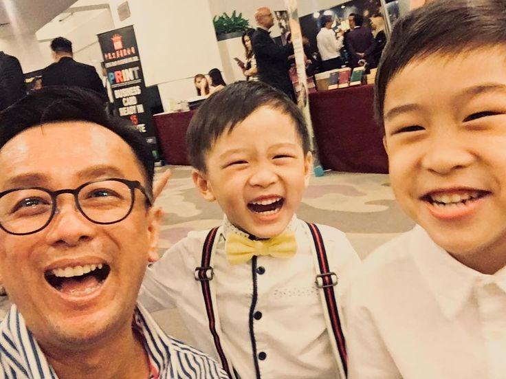 一位小王子和兩位小王爺 咳咳 #kid #kidult #babysitting #boys #bowtie #smile #happy