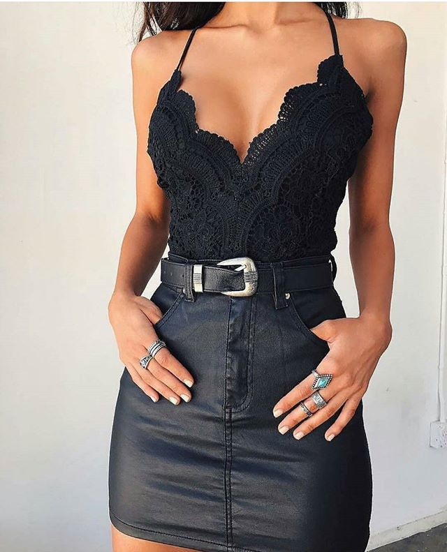 leather n lace...heart.