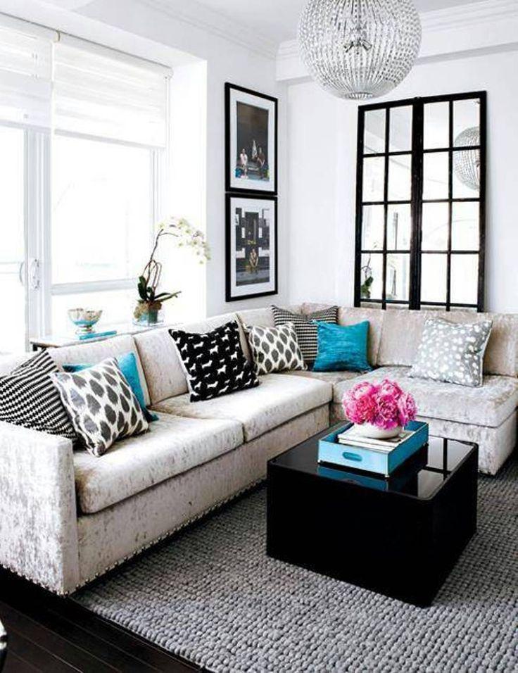 Die besten 25+ Small living room sectional Ideen auf Pinterest