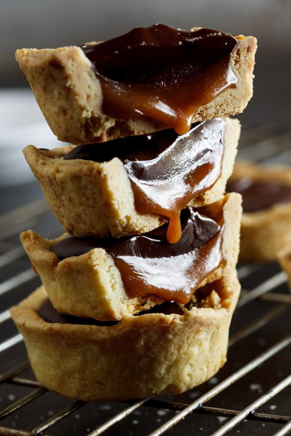 Decadent salted caramel in a crisp pastry cup topped with the smoothest chocolate ganache you've ever tasted. Are you drooling yet? #recipe #dessert