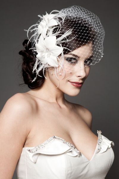 wedding headpieces birdcage veil netting with wedding headpiece