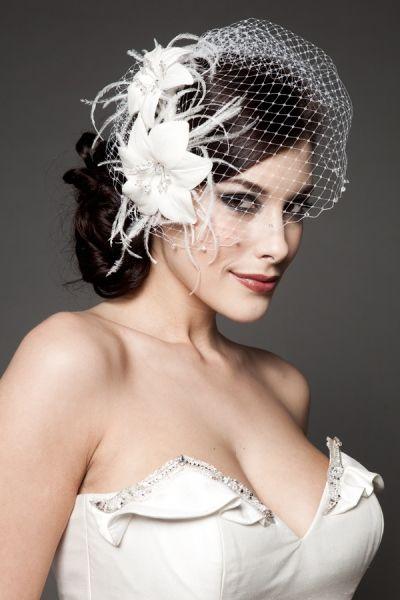 wedding headpieces birdcage veil netting with wedding headpiece