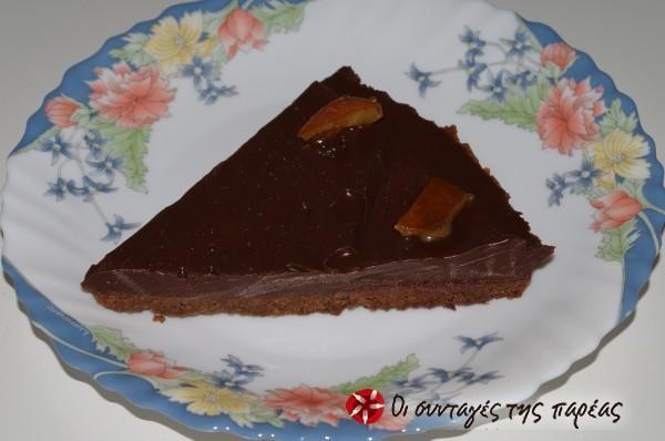 Εύκολη τάρτα σοκολάτας #sintagespareas