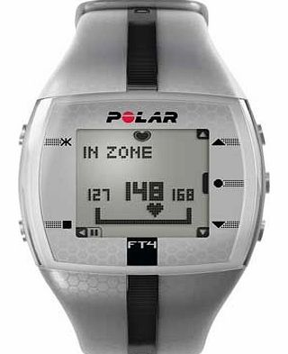 Polar FT4 Fitness Watch - Silver and Black This fitness computer from Polar is great for recreational athletes who want feedback on their progress. The clever computer features button free operation and lets you know how your fitness is improv http://www.comparestoreprices.co.uk/heart-rate-monitors/polar-ft4-fitness-watch--silver-and-black.asp