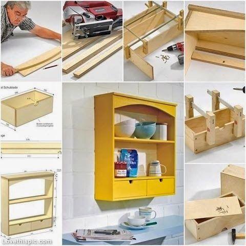 ARTESANATO COM QUIANE - Paps,Moldes,E.V.A,Feltro,Costuras,Fofuchas 3D: ideia prateleira para cozinha