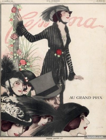 Francisco Javier Gosé 1913 Femina Original Cover, Fashion illustration