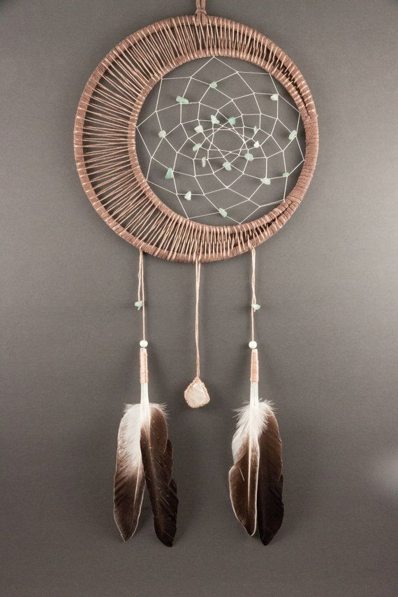 Moonstone Dream Catcher by TheLanternTree on Etsy, $45.00