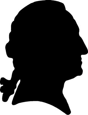 Silhouettes of George Washington, Abe Lincoln... and... The Birthday Boy!