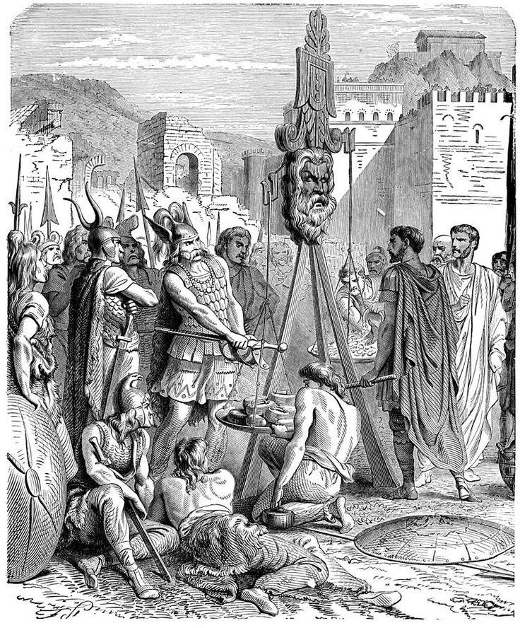Brennus chef des gaulois et Marco Furio Camillo apres le sac de rome