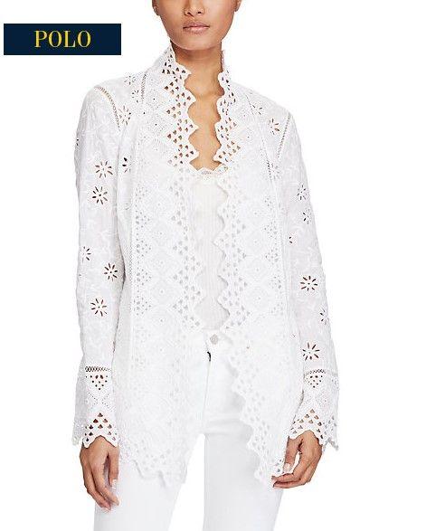 Veste en coton brodé Ralph Lauren