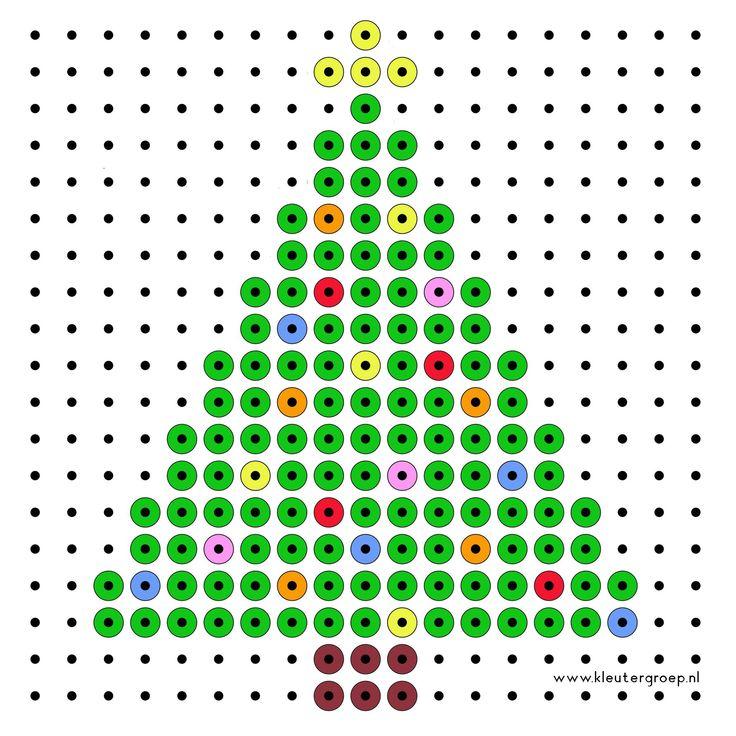 Christmas tree perler bead pattern