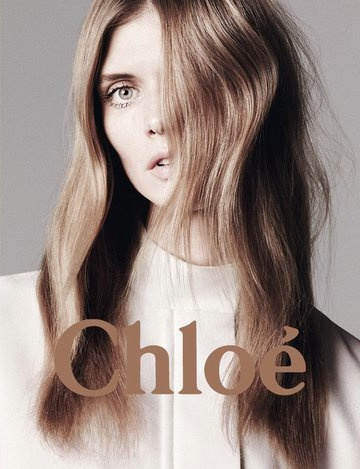 Chloe S/S 2011 advertising campaign. Seventies style.