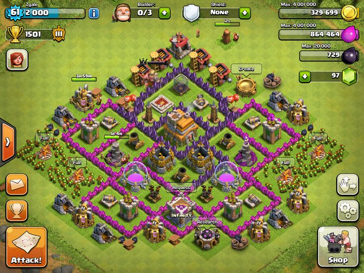 My Clash Of Clans village -Zyale