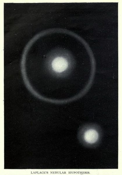 Laplace's nebular hypothesis. _Splendour of the heavens_ 1923