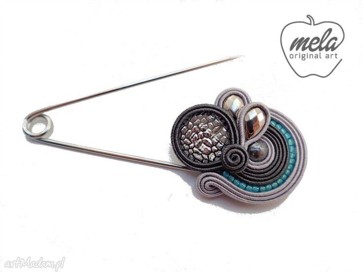 • broszki, biżuteria - broszka agrafka sutasz herbia mela