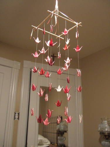 Paper Crane Mobile - CRAFTSTER CRAFT CHALLENGES