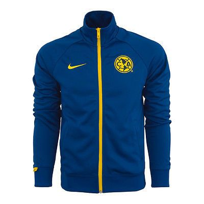 NIKE CLUB AMERICA CORE TRAINER JACKET 2015/16 MEXICO Gym Blue/Lemon Chiffon