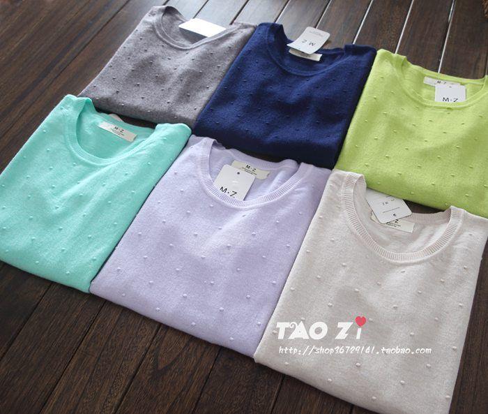 2 014 Hitz дикий сладкий горошек тонкий тонкий с длинными рукавами свитер дна свитер хеджирования женщин - глобальная станция Taobao