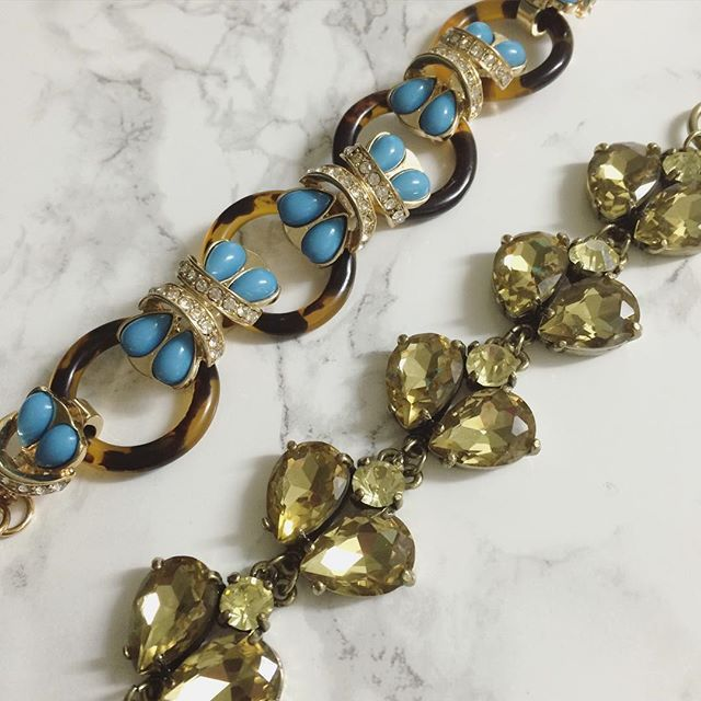 The perfect wrist candy duo  tortoise shell + turquoise + olive = perfection