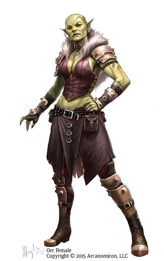 Female Orc, A character design I did forTales of Arcana. Support the Kickstarter onhttps://www.kickstarter.com/projects/1383113518/tales-of-arcana-roleplaying-card-game