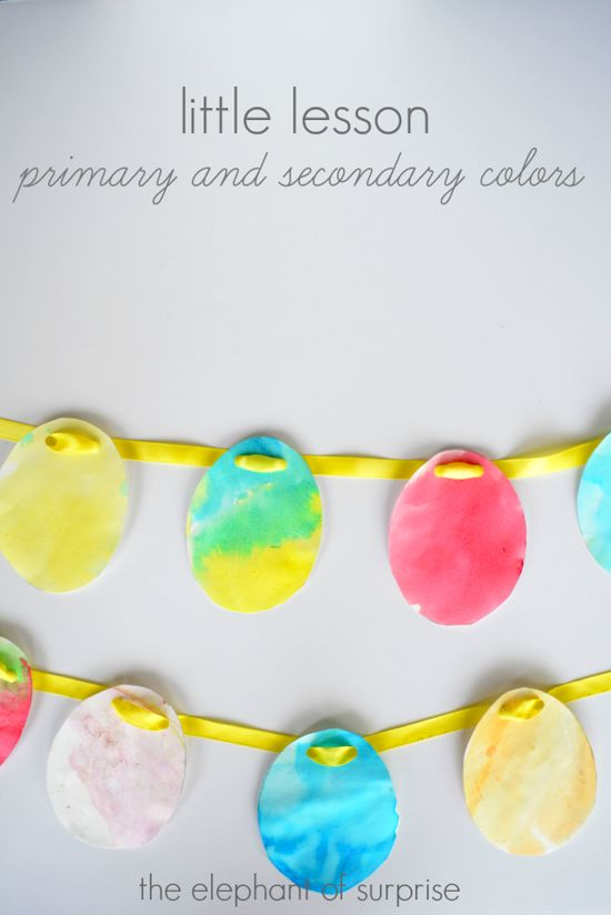 Educational Easter Games - Cute primary and secondary color easter eggs